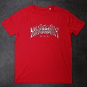 tshirt, original red, tattooshop, memories