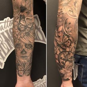 tattooshop, memories, niels, black n grey, chicano