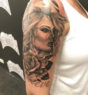 tattooshop, memories, niels, vrouw, arm