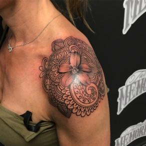 tattooshop, memories, niels, schouder, bloem