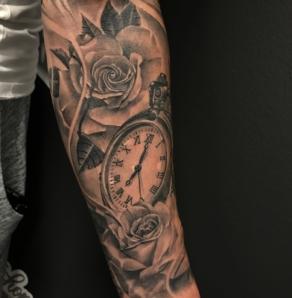 tattooshop, memories, niels, klok, arm