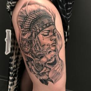 tattooshop, memories, niels, been, indiaan