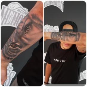 tattooshop, memories, randy, tattoo artist, arm